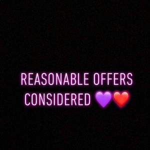 Accessories - Reasonable offers